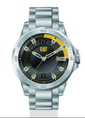 caterpillar, uurwerkt, horloge, watch